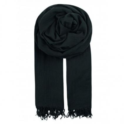 Foulard Solid Ilona 100% coton noir