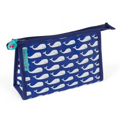 Petite trousse de toilette Whales blue