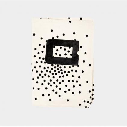 Housse en coton pour carnet de santé stardust black