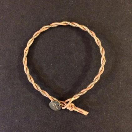 Bracelet cuir et or Storm