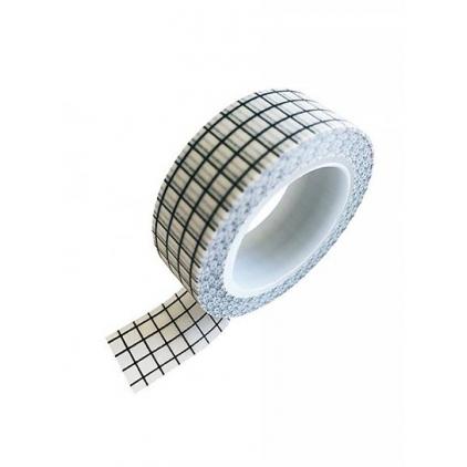 Washi tape black white grid