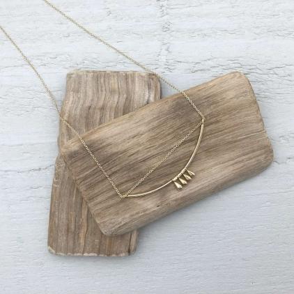 Collier Romane doré - 10213 amulette