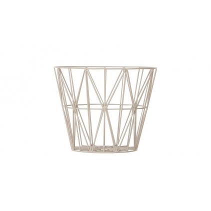 wire basket small 40 x 35 cm - grey