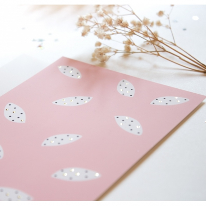 Carte postale peas pattern