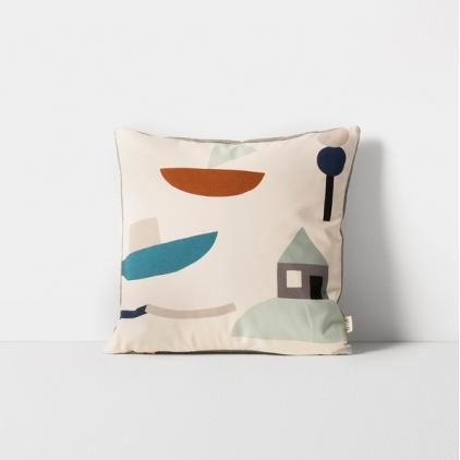 Seaside cushion off-white
