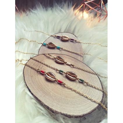 Bracelet Adèle blanc et coquillage