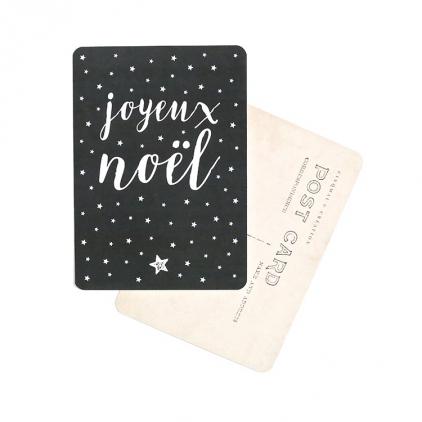 Carte postale Joyeux Noël stella ardoise