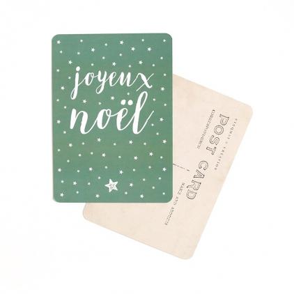 Carte postale Joyeux Noel stella green