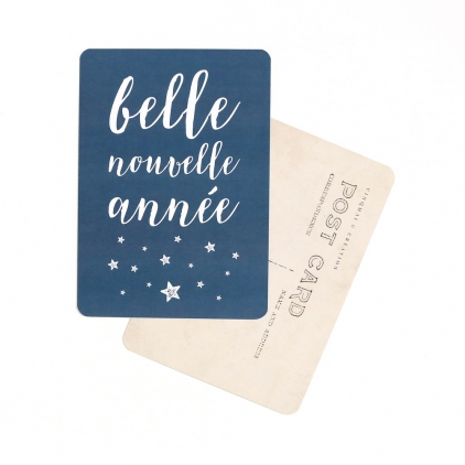 Carte postale Belle nouvelle année bleu nuit