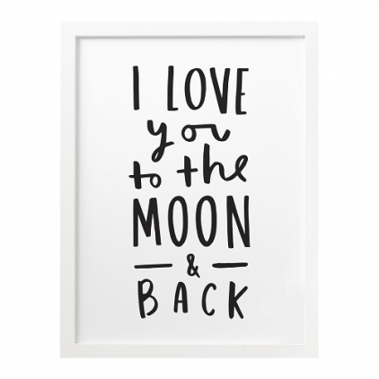 A3 print To the moon and back