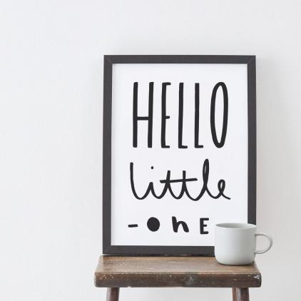 A3 print Hello little one
