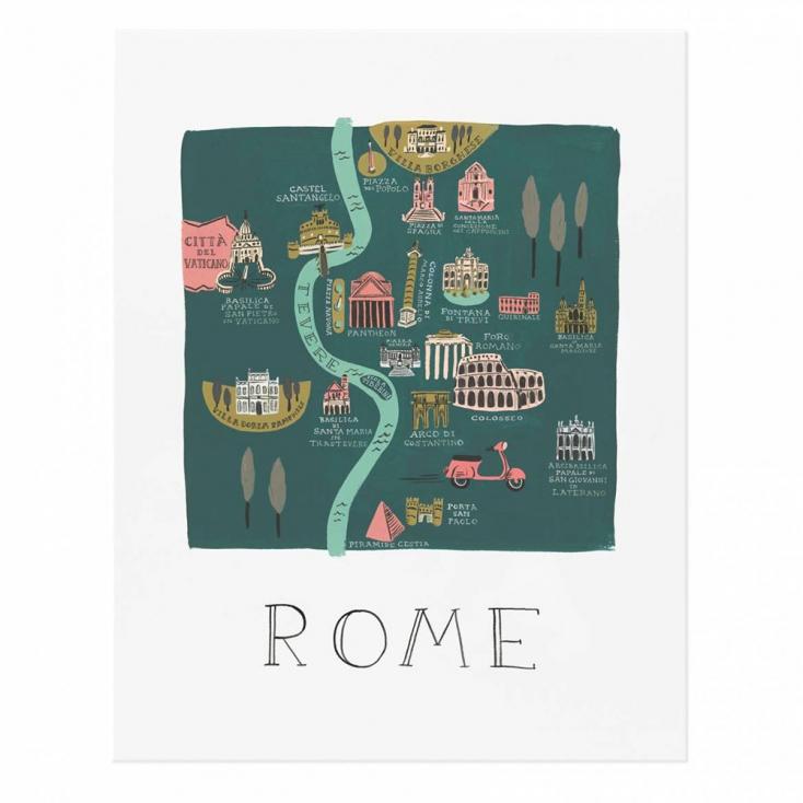Affiche rome rifle paper - Fiche rome commis de cuisine ...