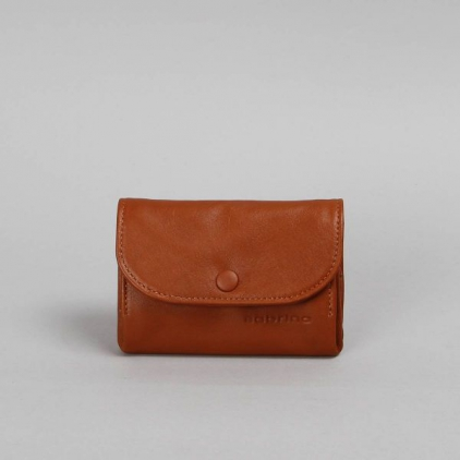 Laura - portefeuille cuir caramel