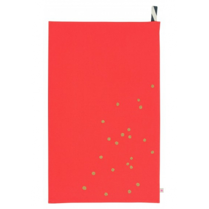 Tea towel pastèque gold dots