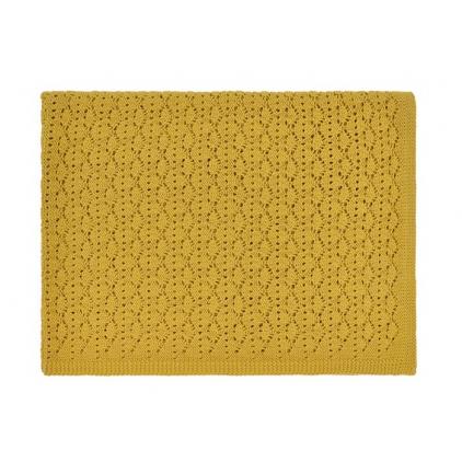 Couverture dentelle jaune ceylan