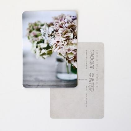 Carte postale hortensias