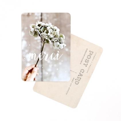 Carte postale merci hortensia