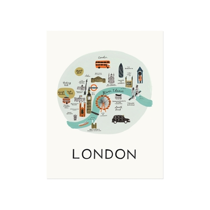 Affiche London Rifle Paper