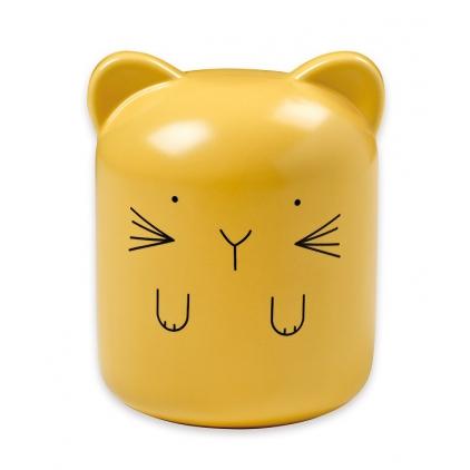 Tirelire en porcelaine jaune Bandjo