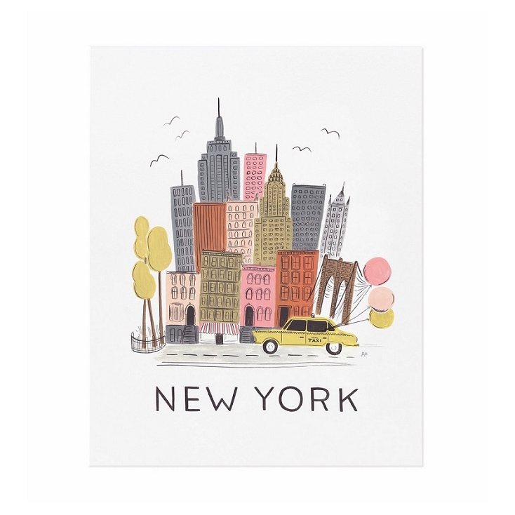 Affiche New York Rifle Paper