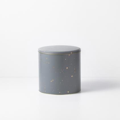Confetti tin box - L grey