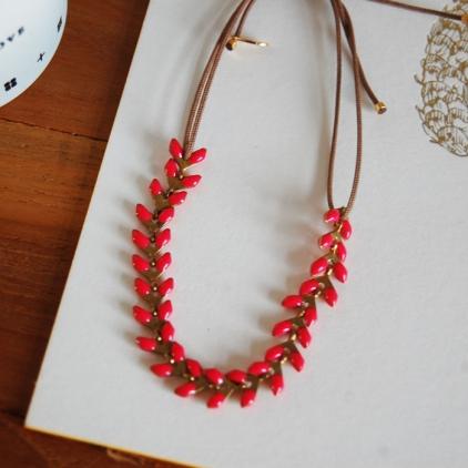bracelet Paloma framboise
