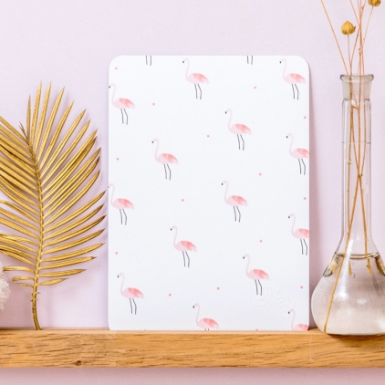 Carte postale Mini flamingos