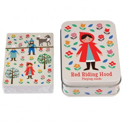Boîte métalique jeux de carte Red Riding Hood
