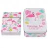 Boîte métalique jeu de cartes Flamingo Bay