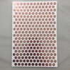 Cahier blanc 26 x 18 cm octogones cuivrés