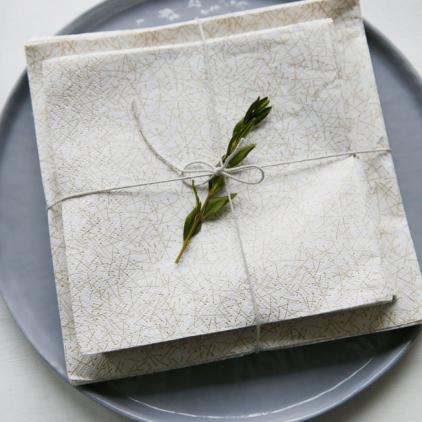 Paper napkin Gold Needles