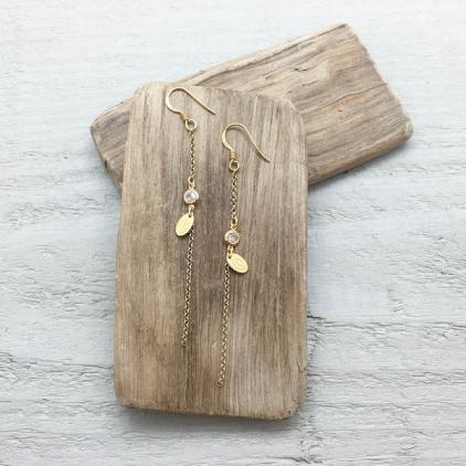 Boucles d'oreilles Zélie plaqué or