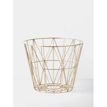 Wire basket small 40 x 50 cm - brass