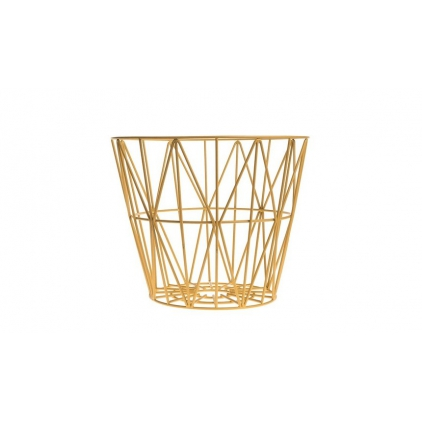 wire basket small 40 x 35 cm - yellow