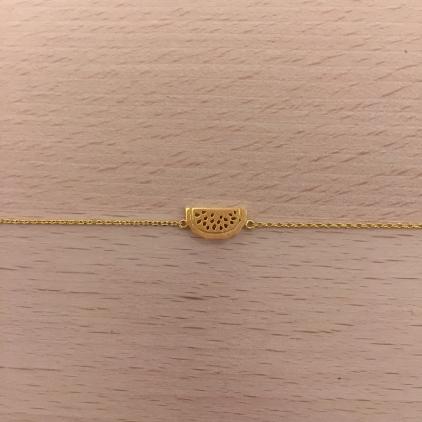 Bracelet doré pastèque pépin ajouré