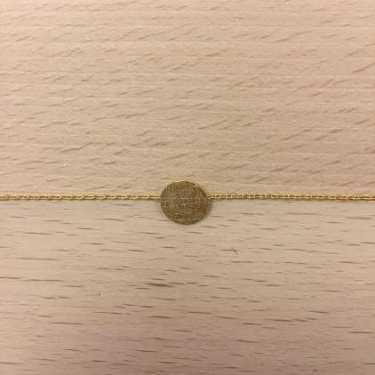 Bracelet doré rond plat