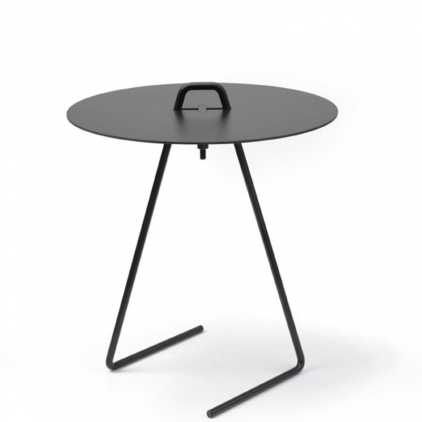 Side table black top