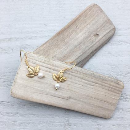 Boucles d'oreilles Odette perle - 10324 amulette