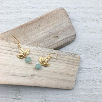 Boucles d'oreilles Odette perle - 10323 amulette