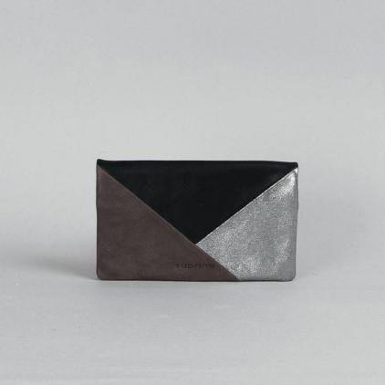 Portefeuille Kate Patchwork - Noir ardoise acier