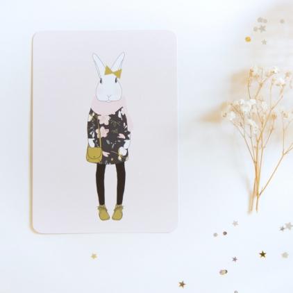 Carte postale Joséphine en hiver