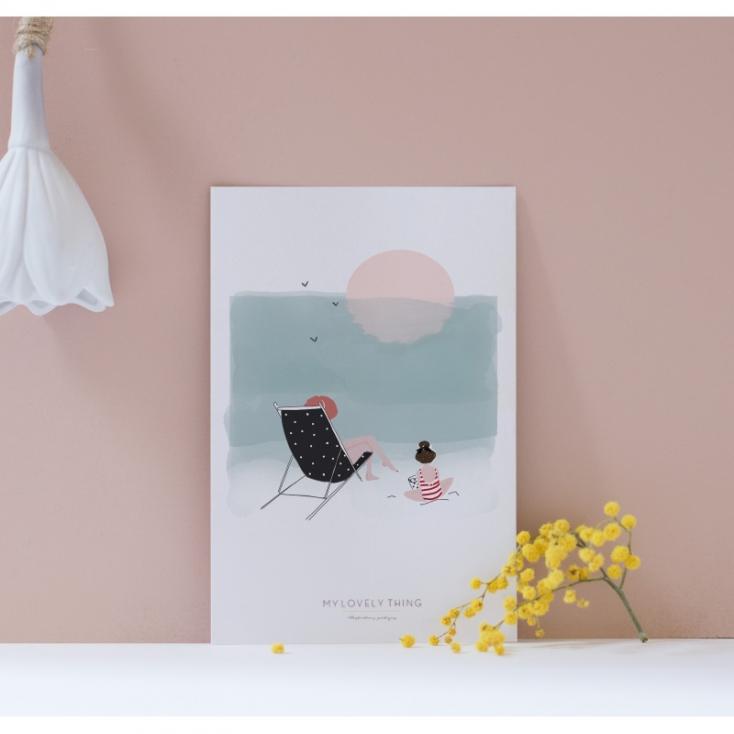 Carte postale Journée à la plage fille
