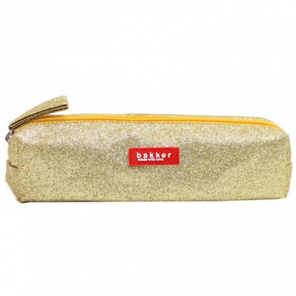 Pencil case glitter - doré