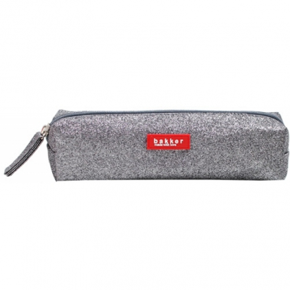 Pencil case glitter - gris foncé