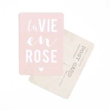 Carte postale la vie en rose