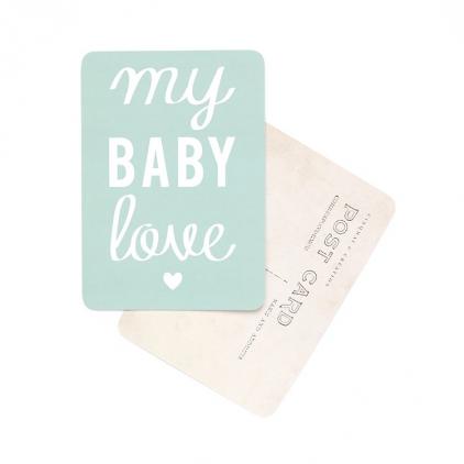 Carte postale my baby love vert