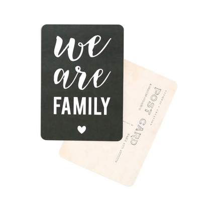 Carte postale We are family ardoise