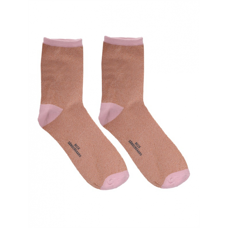 Chaussettes Dina Solid - Strawberry cream 37-39