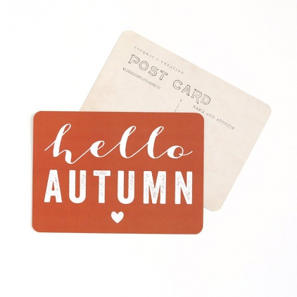 Carte postale Hello Autumn - Argile