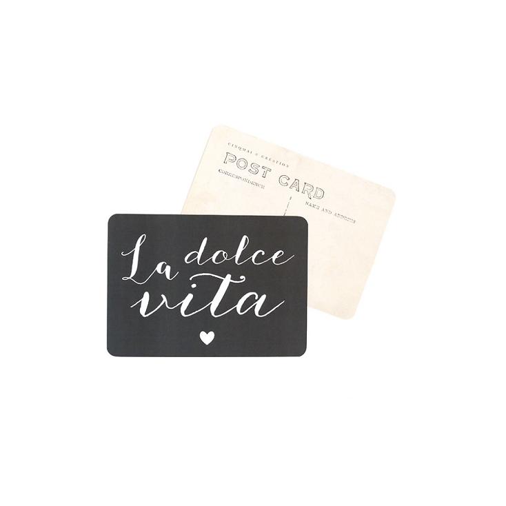 Carte postale La dolce vita - Ardoise